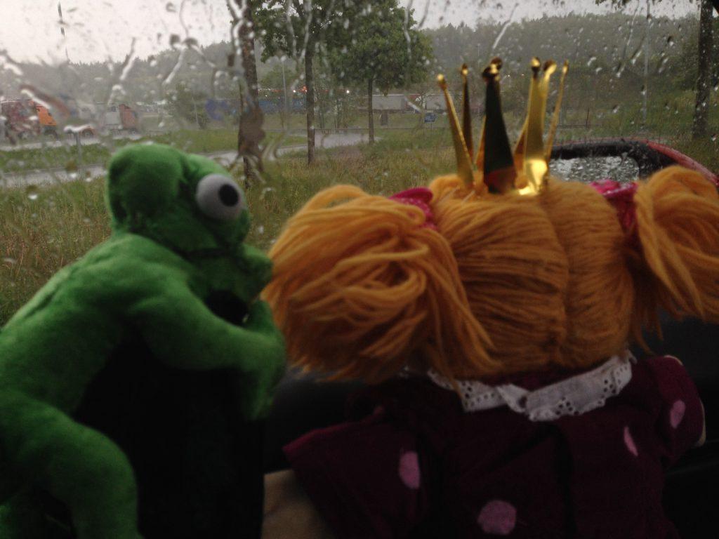 Regen im Auto